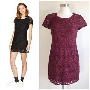 Aritzia OJI Burgundy Talula Lace Dress